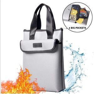 Handbags - Fireproof Bag 2 Pockets Fireproof Document Bag